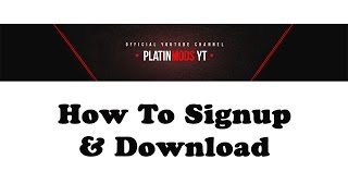 How to sign up & download on www.platinmods.com