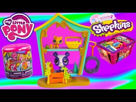 Littlest Pet Shop Cozy Clubhouse Playset MLP Fash'ems Shopkins Blind Bags Bobblehead LPS Toy