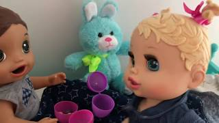 BABY ALIVES Lukes and Chelseas Easter Egg hunt baby alive videos