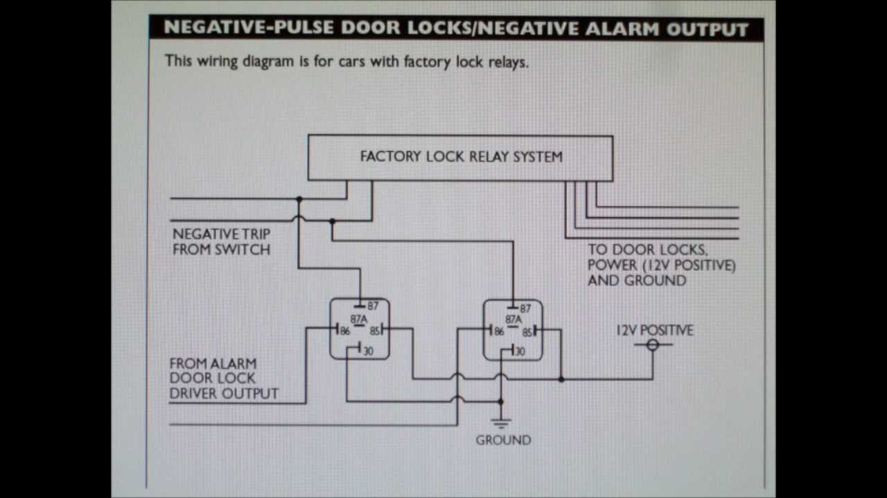 how to wire your alarm to a car with negative door lock system [ 1280 x 720 Pixel ]