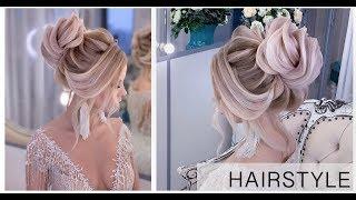 Высокий пучок «Зефирка». Hairstyles. Свадебная причёска | Анна Комарова