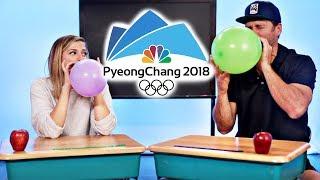 Pyeong Chang 2018 Winter Olympians VS Everyday Tasks