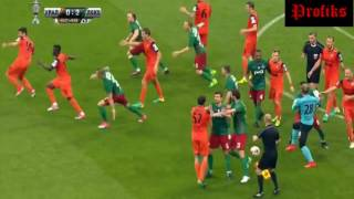 Драка в Финале Кубка России Урал 0:2 Локомотив | Ари жжет