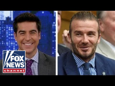 Jesse Watters reacts to David Beckham's cosmetics for men
