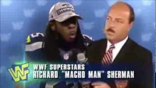 Richard Sherman WWF Interview Seahawks Erin Andrews Crabtree (Hilarious)