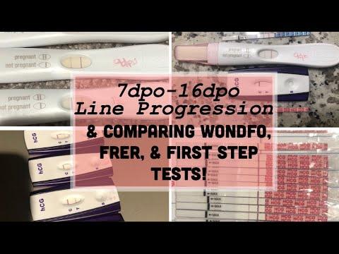 Pregnancy Test Line Progression Comparing Tests 7dpo 16dpo