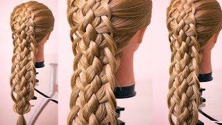 Многопрядная коса  Подробный видео урок  Hair tutorial Braid