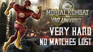 Mortal Kombat Vs DC Universe - The Flash - Very Hard - No Matches Lost (Commentary)