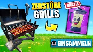FREE Backpack 🔥🎁 Destroy Grills | Fortnite 14 Days Summer Challenge German