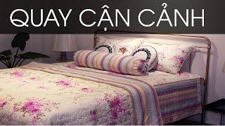 Bộ drap giường giá rẻ nhập khẩu Hàn Quốc phối màu hoa văn cực đẹp kí hiệu HQ5-020