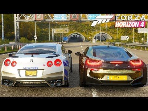 Jon Vlogs Vs Greg Ferreira Bmw I8 Vs Nissan Gtr Forza Horizon 4