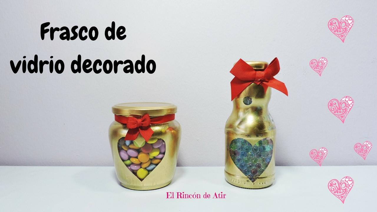Decorated glass jar valentine 39 s day youtube - Frascos de vidrio decorados ...