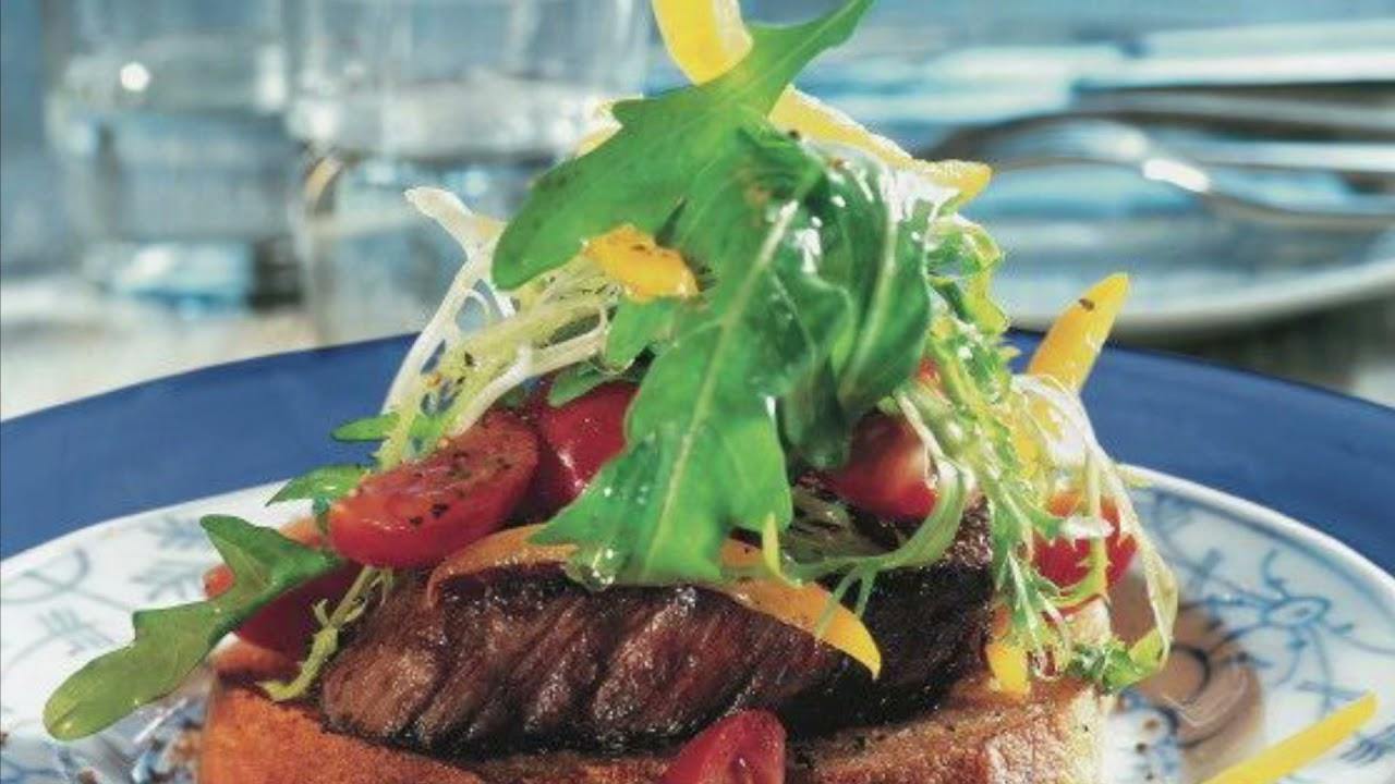 Steak on Toast, Croissant Sandwiches, Quiches.