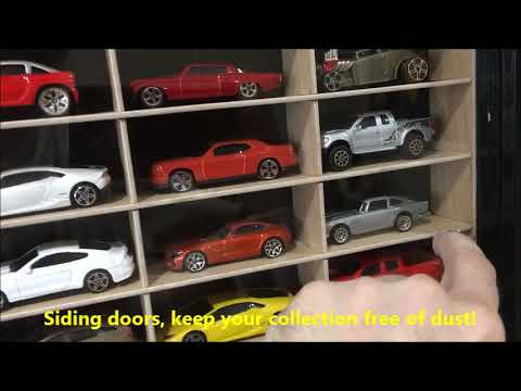 Display case cabinet for 1 64 scale cars (hot wheels abdb08bb5a
