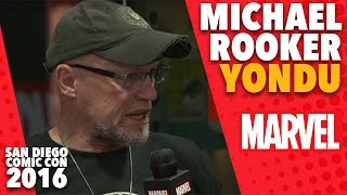 Michael Rooker Also Known as Yondu on Marvel LIVE! at San Diego Comic-Con 2016