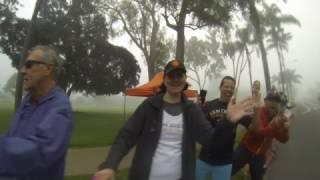 San diego track club cheering on runners at 2017 san diego half marathon