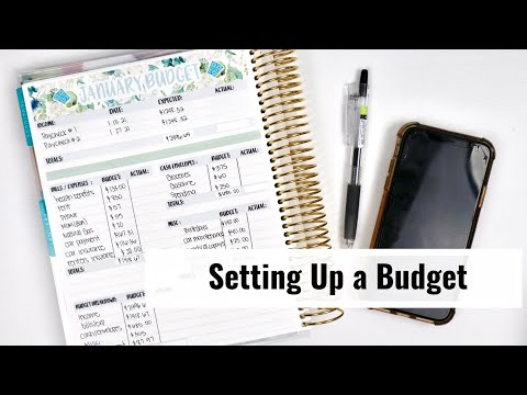 How To Create A Monthly Budget // Setting Up January 2021