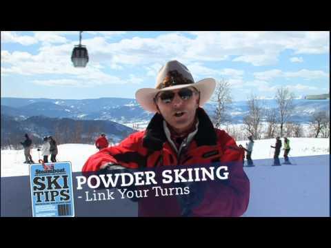 Steamboat - Ski In Powder Ski Tip by Billy Kidd