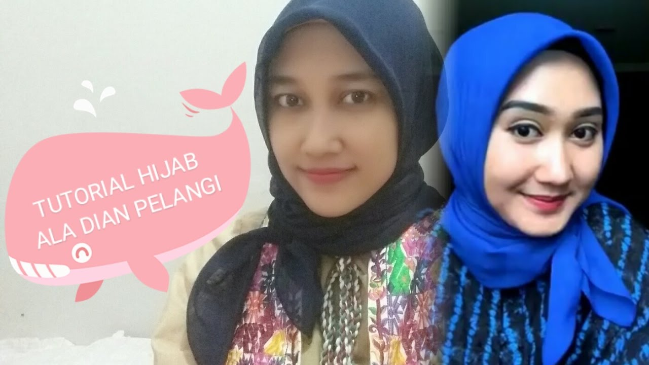 tutorial hijab segiempat simple ala dian pelangi