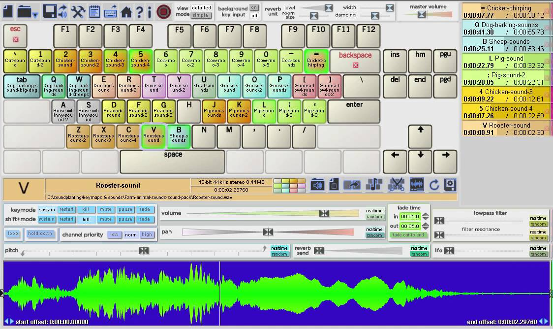 Soundplant 43 sound effects demo: on the farm by keymapper