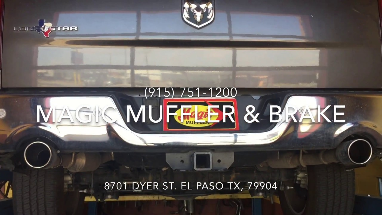 2016 Dodge Ram Hemi W 1 In 2 Out Magnaflow Muffler Youtube