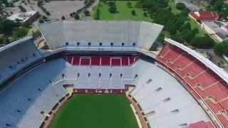 Bryant-Denny Stadium Flyover - University of Alabama - Roll Tide!