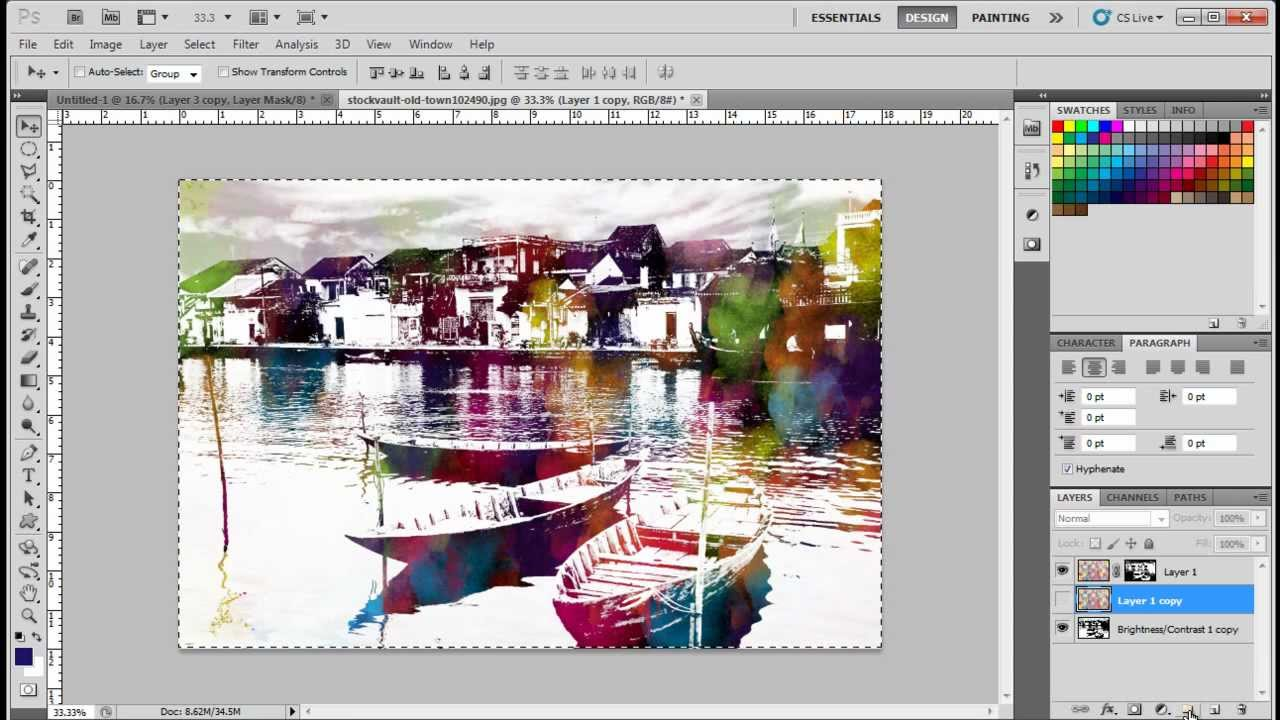 Photoshop cs5 background tutorials choice image any tutorial examples how to create a watercolor effects in adobe photoshop cs5 youtube how to create a watercolor baditri Choice Image