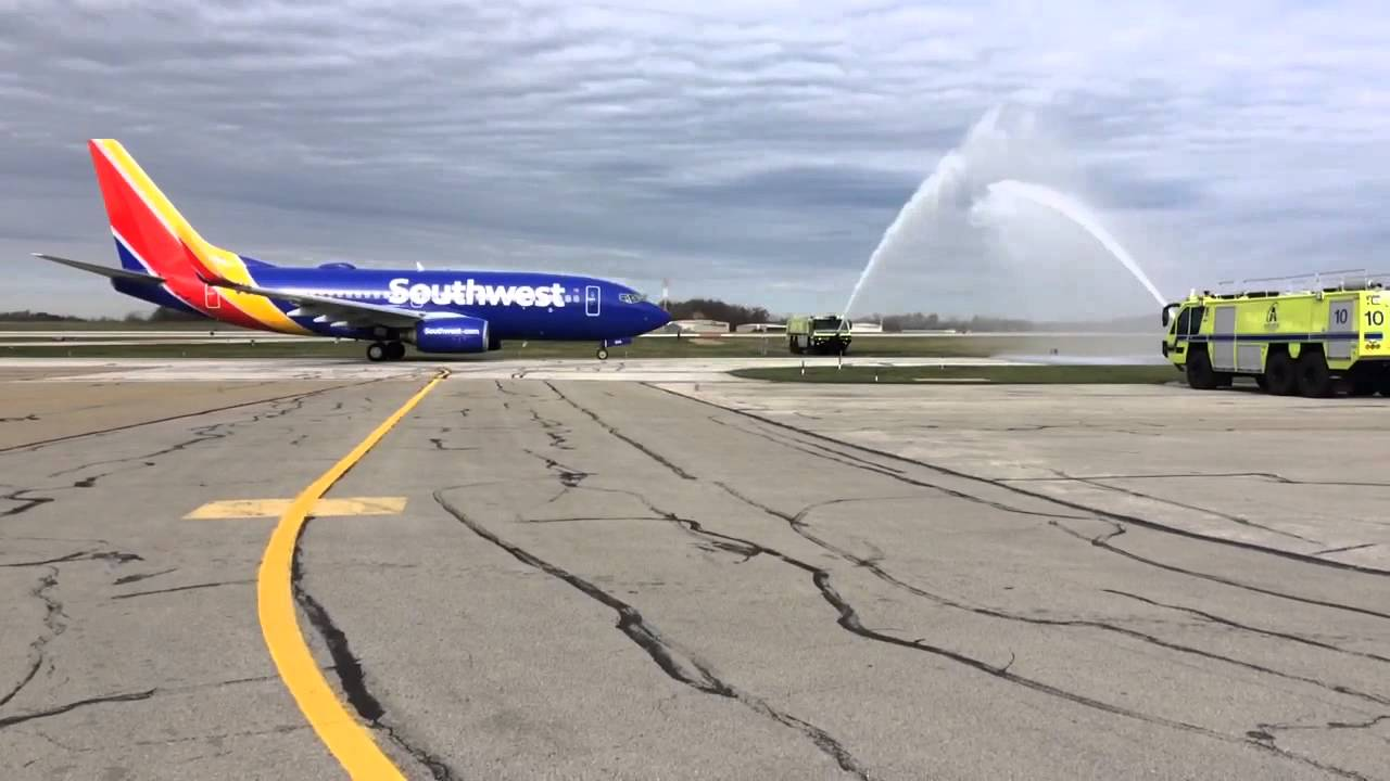 Celebrating our first nonstop flight from CAK to Washington DC on Southwest Airlines!