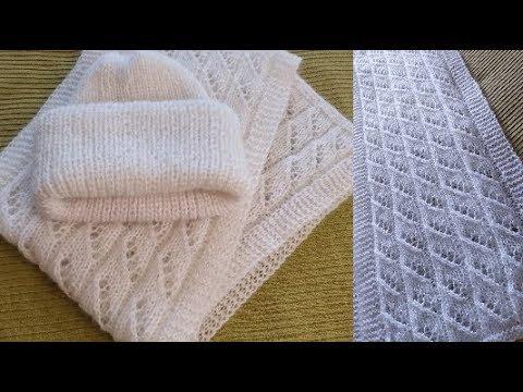 Как связать шапку шарф