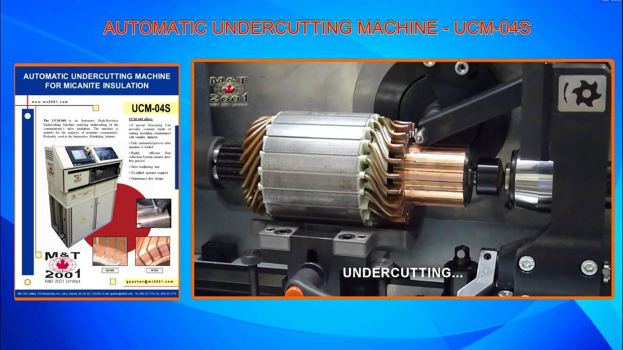 UCM-04S Undercutting Machine - YouTube