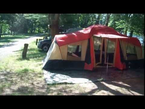 99fd5139fd Ozark Trail 10-Person 3-Room XL Camping Tent, 20' x 11' - YouTube