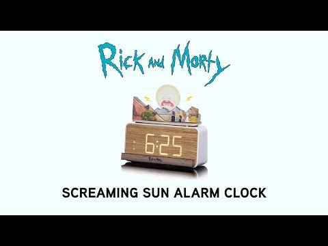 Rick and Morty Screaming Sun Alarm Clock from ThinkGeek