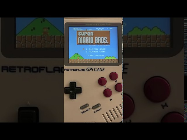 Vidéo Super Mario Bros sur la Retro Gameboy de www.2players.shop