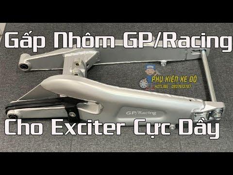 🚫 Gấp Nhôm Exciter 150 Mẫu GP-Racing Hàng Cực Dày | Phụ Kiện Xe Độ