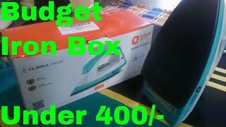 Budget Iron Box For Bachelors||Orient Fabri Joy Dry Iron from Amazon
