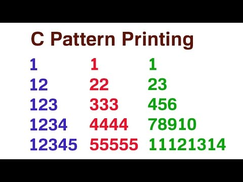 Practical and Assignment Programs-Pattern Printing 8 | Doovi
