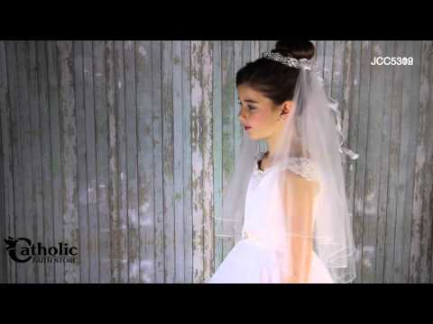 Joan Calabrese First Communion Dress With Hand-beaded Sleeves