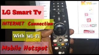 LG Smart TV Internet connection with mobile hotspot