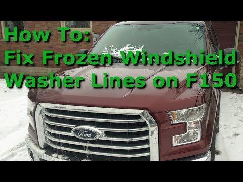 Ford F150 washer line frozen DIY fix (2015 – 2018)