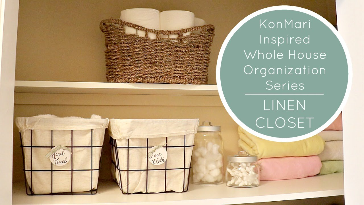 KonMari Method Organization | LINEN CLOSET BEFORE U0026 AFTER   YouTube