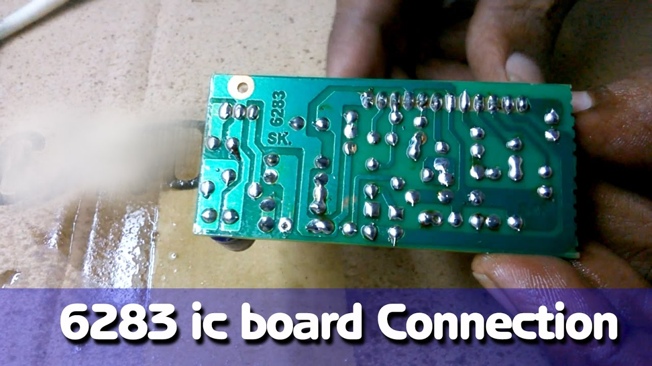 6283 Ic Board Connection Diy Hindi Electronics Electro India Mp3 Player Circuit Diagram And Layout Modules