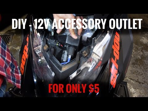 DIY - Ski-doo 12 V Accessory Outlet Build And Install