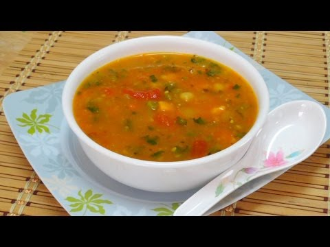 Mid-winter Veggie Herb-ed Soup Video Recipe by Bhavna - Asia Eats Collaboration