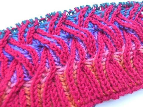 Loom Knitting With Two Colors : Knit with elizzza * rainbow cowl two color brioche stitch