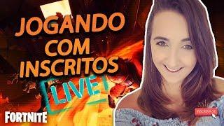 JOGANDO COM INSCRITOS LINDOS! // TAG DE CRIADOR:NEEDS_SUGAR// #FORTNITE (LIVE-BR)