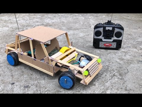 How To Make Amazing RC Car From Cardboard - Remote Control Car DIY