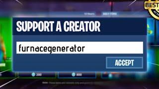 I GOT AN EPIC GAMES (FORTNITE) SUPPORT-A-CREATOR CODE...