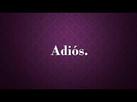 Adiós - Sin Bandera (Lyric Video)