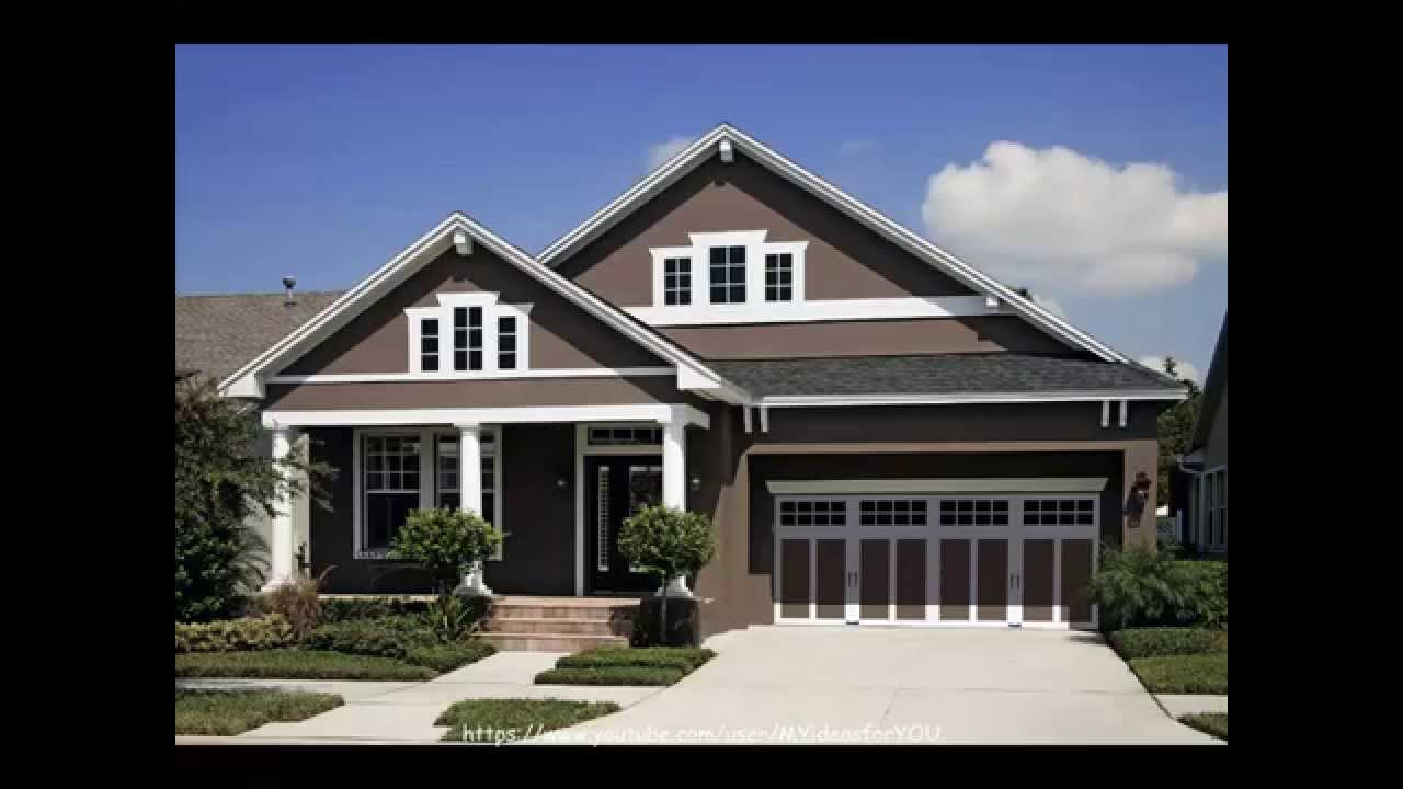 Home exterior paint color schemes ideas youtube for House outside color combination