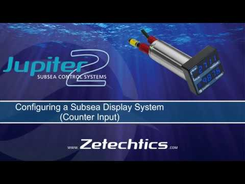 Configure a Subsea Display Counter Input using the Support Tool